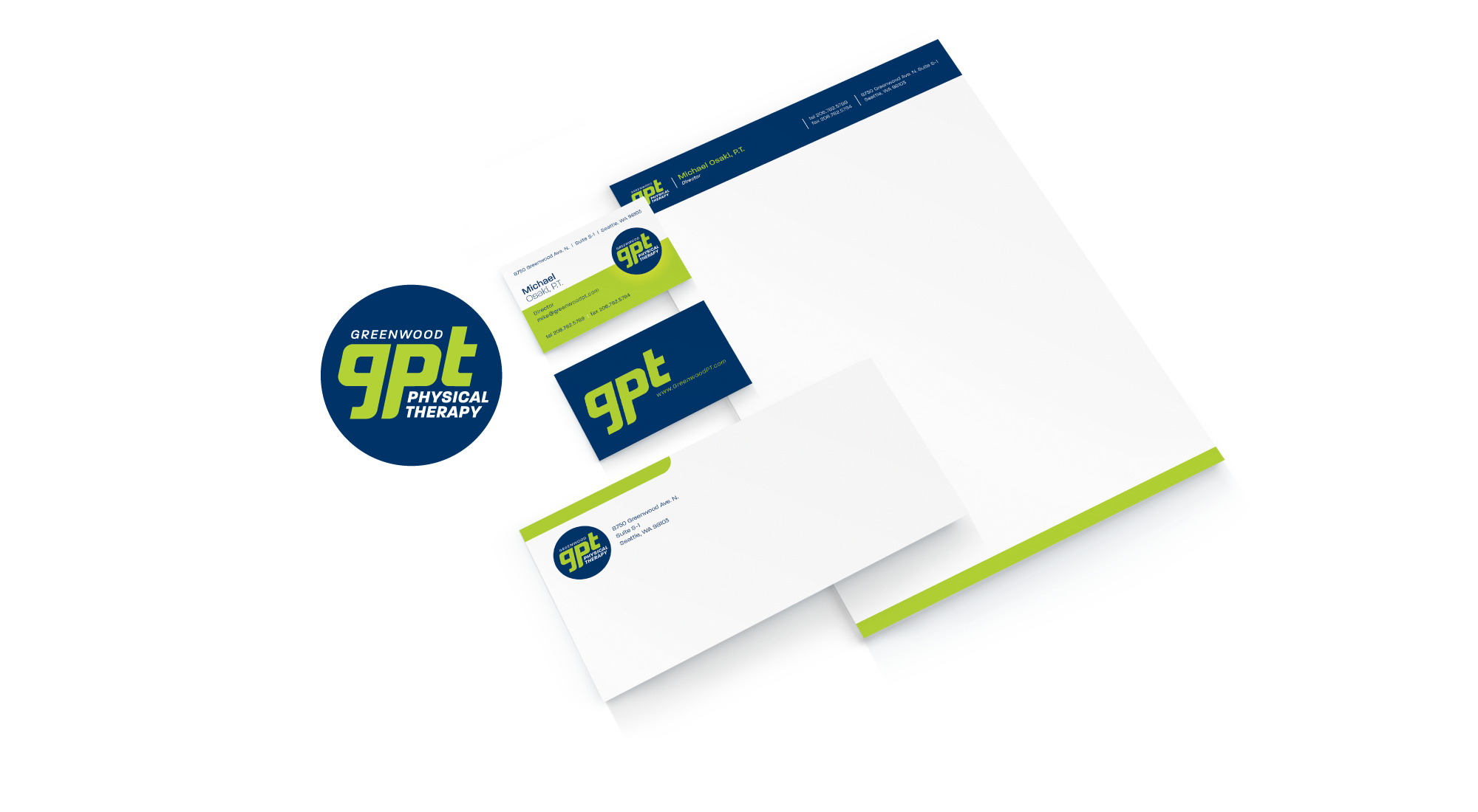 Greenwood Physical Therapy Branding
